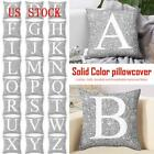 A-z Letters Cushion Throw Pillow Case Cover Home Sofa Bed Decor 45*45cm Us