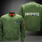 New England Patriots Fan flight Jacket print men's baseball Uniform Jacket coat on eBay