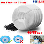 4-8X Water Fountain Filter Activated Carbon Charcoal Replacement for Pet Dog Cat