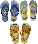 OFFICIAL MINIONS DESPICABLE ME FLIP FLOPS HOLIDAY SANDALS SHOES KIDS BOYS CHILD