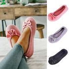 Ladies'  Cotton Knit Memory Foam Ballerina Slippers Light Weight House Shoes