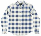 Diamond Supply Co Holiday Flannel LS Button Down Shirt Navy Plaid Mens