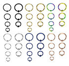 GOLD BLUE RAINBOW Ball Closure Captive Ring BCR, Lip Nose Ear Tragus Septum ring