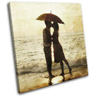 Umbrella Parasol Couple Kissing  Love SINGLE CANVAS WALL ART Picture Print for sale  Shipping to Canada