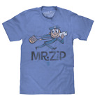 MENS USPS MR ZIP LOGO T-SHIRT US MAIL HEATHER ROYAL RETRO SOFT TEE TOP NEW  image