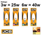 JCB LED Candle Non-Dimmable Lamps 3w = 25w 6w = 40w BC SBC ES SES 3000k 240v
