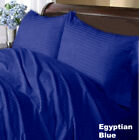 1000 TC Decent Bedding Collection 100%Cotton US Size Egyptian Blue Strip image
