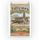 Petersburg, Virginia - Triumph Brand Tobacco Label (Posters, Wood $12.99 USD on eBay