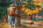 FixedPricesmokey bear - hugging tree - vintage poster (art posters, wood & metal signs)