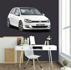 3D VW Golf T171 Car Wallpaper Mural Poster Transport Wall Stickers Sunday