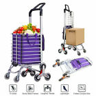 Travel Shopping Cart Folding Trolley Swivel Wheels Basket Cart Handcart with Bag