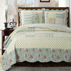 Annabel Luxury Microfiber Printed Coverlet Oversized Bedspread Set with Shams image