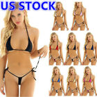 Women's Swimwear Micro Thong Mini Bra Bikini Set Triangle Swimsuit Bathing Suit