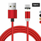 360° Magnetic Cable Type C / Micro USB Adapter Charging Cord For Samsung S10 A70