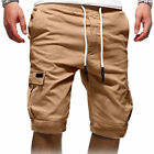 Men Casual Jogger Shorts Sports Cargo Pants Military Combat Workout Gym Trousers