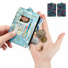 RFID Blocking Wallets Card Holder Coin Purse Credit ID Card Holder w/ Key RIng image