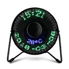 Mini USB Table Desk Cooling Fan LED Clock w/ Real Time Display Temperature