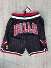 MEN's Chicago Bulls Just Don Pinstripe Black BASKETBALL SHORTS Sizes S-2XL on eBay