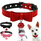 Pet Accessories Adjustable Necklace Bow Tie Dog Cat Bell Collars Puppy Kitten