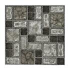 Floor Tiles Self Adhesive Vinyl Flooring Kitchen Bathroom Charcoal Stone Effect