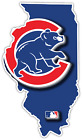 Chicago Cubs Illinois State Baseball Logo Vinyl Sticker Decal Cornhole Wall on Ebay