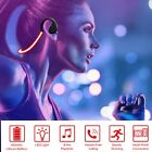 Wireless Sport Headset Headphone LED Light Earphone W/Mic For Night Running