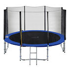 Exacme Outdoor Round Trampoline with Enclosure Net, Spring Pad and Ladder,T8-T16