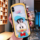 Chip and Dale Donald Duck Arc Shape Machine Hollow Glass Phone Case For iPhone X