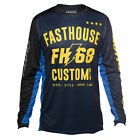 Fasthouse Worx 68 Mens Jersey Moto - Blue Yellow Black All Sizes