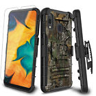 For Samsung Galaxy A10e A20 A30 A50 Case Stand Belt Clip Cover /Screen Protector