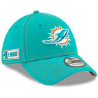 2019 Miami Dolphins New Era 39THIRTY NFL Sideline Road On Field Cap Flex Hat on eBay