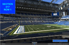 2 of 4 Front row Carolina Panthers at Indianapolis Colts tickets Sec 116 row 1