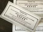THANK YOU For Your Purchase  ENVELOPE/PACKAGE SEALS LABELS STICKERS 5-STAR