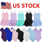 Kyпить US Toddler Girls Gymnastics Leotard Dress Ballet Dance Tutu Skirt Dancewear Top на еВаy.соm