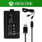 2Pack For Official Microsoft XBOX ONE Controller Play & Charge Kit 1400mAh