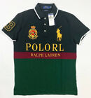 NWT Men Polo Ralph Lauren BIG PONY Mesh Polo Shirt Fine Quality CUSTOM SLIM FIT
