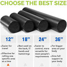 Black Extra Firm Yoga Foam Roller Message Muscle Back Pain Trigger EPP Exercise  image
