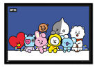 Framed BT21 Group Poster Official Licensed 26 x 38 Inches
