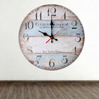 12'' Vintage Wood Clock House Swing Round Wall Clock Handcraft Home Room Decor