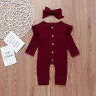 UK Newborn Baby Girl Boy 2PCS Autumn Clothes Set Knitted Romper Jumpsuit Outfits <br/> 400+SOLD❤Fast Shipping❤UK STOCK❤Easy Return