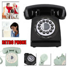 Rotary Disc Retro Vintage Landline Phone Telephones Desk Home Corded Dial Phone