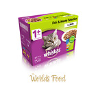 Official Whiskas Fish and Meat in Jelly Wet Adult 1+ Cat Food Pouches 12 x 100g