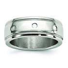 Chisel Stainless Steel Polished Grooved Ring SR593 image