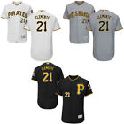 Roberto Clemente 21 Pittsburgh Pirates Flex Base Mens Jersey Home Road