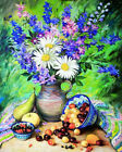 DIY Flower Paint By Number Kit Digital Acrylic Oil Painting Home Art Wall Decor