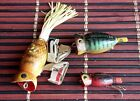 Fred Arbogast Hula Popper, body length 50, 40, 30 mm. Options!