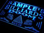 Name Personalized Custom Billiards Pool Bar Room Neon Light Signs with On/Off $77.52 CAD on eBay