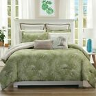 11 Piece Paradise Green/Taupe Reversible Comforter Set with Sheets