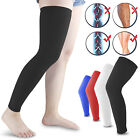 Compression Long Sleeve Support Leg Knee Brace Socks Sport Pain Relief Men Women $8.95 USD on eBay
