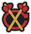 Chicago Blackhawks Tamahawk Vinyl Sticker Decal *SIZES* Cornhole Wall Bumper Car $22.99 USD on eBay